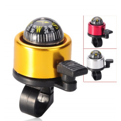 Metal Ring Handlebar Bell Sound Alarm for Bike Bicycle w/ Sphere Compass - Random Color