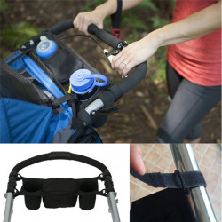 Baby Stroller Pram Pushchair Safe Console Tray Cup Holder Organizer Bag