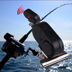 High Quality Waterproof Electronic Bell Red Light Alarm Fish Bite Sound Alarm fishing Rod Alarm Clip