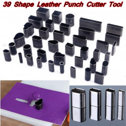 Leather Hole Hollow Punch Cutter Set Craft Tool
