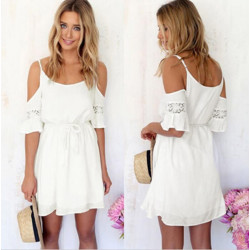 Women Summer Beach Short Mini Dress