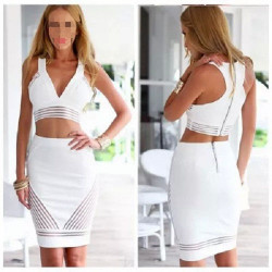 2Pcs Womens Dress