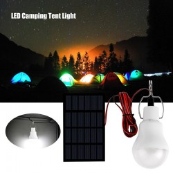 Portable Solar Panel Power Outdoor Lamp