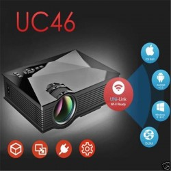 UC46 LCD Mini Pico Projector HD 1080P