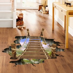 3D Suspension Bridge Floor/Wall Sticker