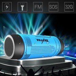 Bluetooth Mini Speaker LED Flashlight FM Power Bank
