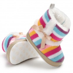 Baby Rainbow Coral-Fleece Shoes