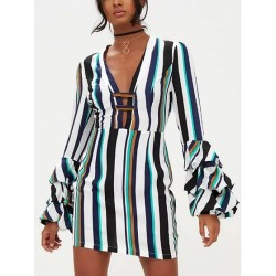 Mini Dress with polychrome Stripe