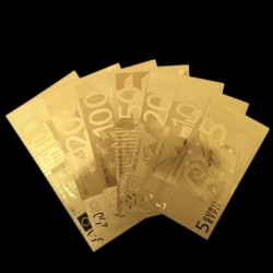 Euro Gold foil banknotes