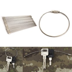 20 Stainless Steel spiral wire key rings