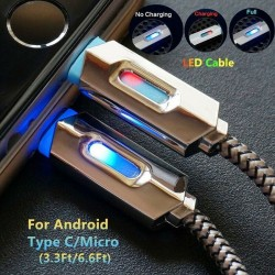LED Data Cable Quick Charging Typ C / Micro USB