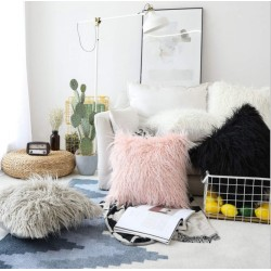 Fur Plush Throw Pillow Case