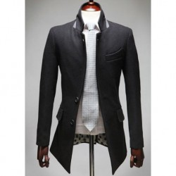 Stylish Casual Worsted Coat Dress Suit Top For Men
