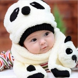 Winter Hat & Scarf Cartoon Panda