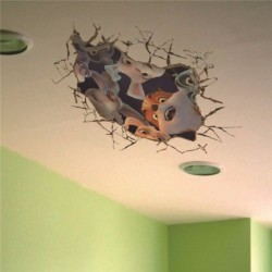 Ceiling Hole Sticker 3 D wall decal