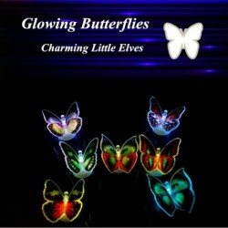 3D Stickers LED Flashing Butterfly Night Light