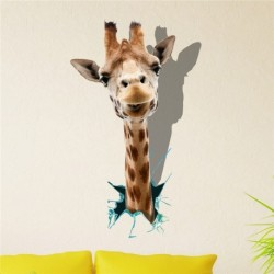 Removable Wall Hole Sticker 3D Giraffe