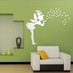 Fairy Wall Stickers Stars Girl Mirror Wall Decal