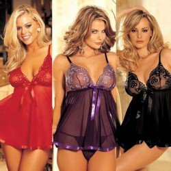 Women Plus Size Lace Babydoll