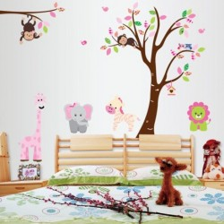 Kids Room Wall Sticker Monkey Tree