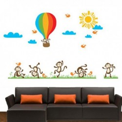 Wall Stickers Monkey Balloon