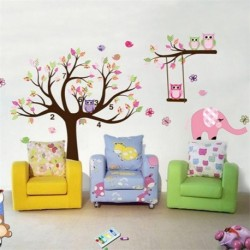 Owl Tree Branch Vinyl Art Wall Sticker