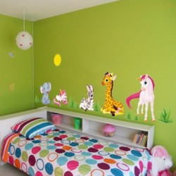 Cartoon Animals Removable Wall Sticker
