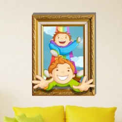 Children Funny Games Wall Decals 3D