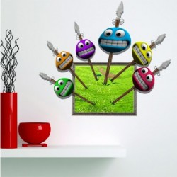 Kids Room Cartoon Smile Wall Decals 3D