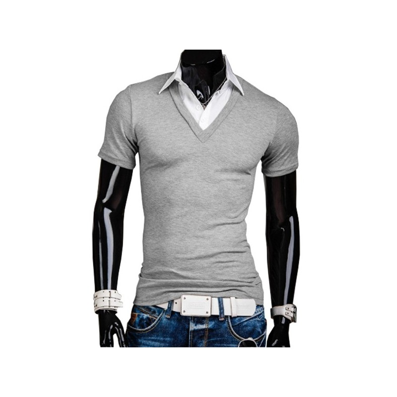 two shirt polo t shirt 5919 men fake two shirt. Black Bedroom Furniture Sets. Home Design Ideas