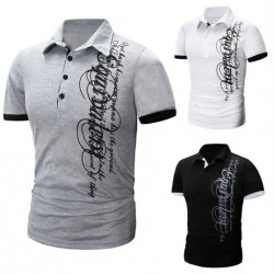 Short Sleeve Slim Fit Lapel Polo Shirts