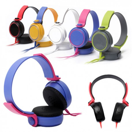 Colourful 3.5mm Stereo Headphone Over-Ear Earphone Headset With Microphone For iPhone iPod MP4 PC