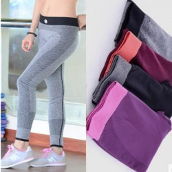 Sweat-absorbent Workout Elastic Sportswear Running Trousers Yoga Fitness Pants Leggings
