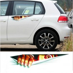 Peeking Monster Waterproof Fashion Car Sticker