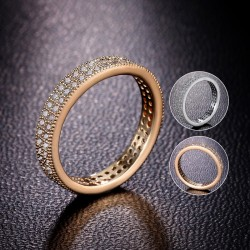 Romantic Polish Round Diamond 18K Gold And White Gold Plated Wedding Rings