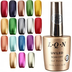 18 Colors Metallic Metal Nail UV Gel