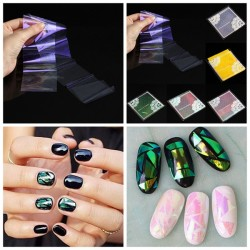 DIY Shiny Colorful Broken Glass Nail Foil