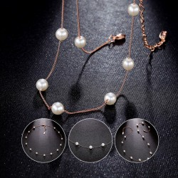 Imitation Pearl Necklaces with Pendants two Color Selection