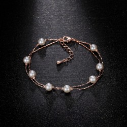 Fashion Bracelets with Simulated Pearls