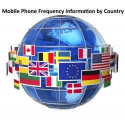 Mobile Phone Frequency Information by Country