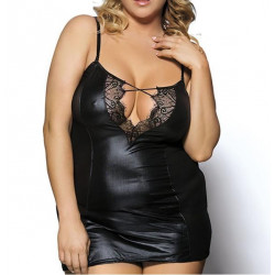 Plus Size Sexy Leather Lace Sleepwear