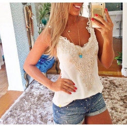 Women's Knitted Sleeveless Casual Top Blouse T-Shirt