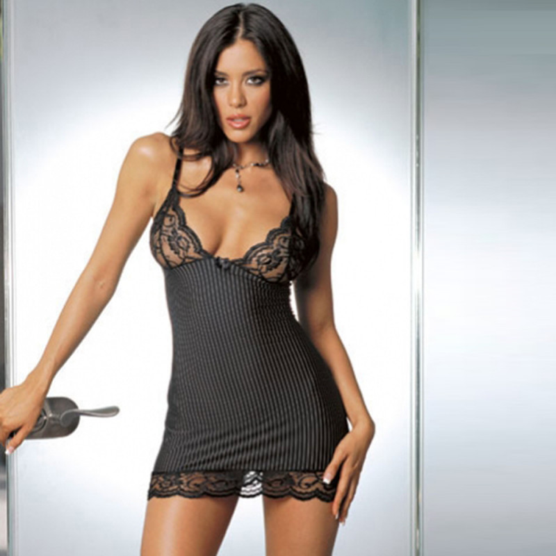 Women Lace Lingerie Mini Dress Babydoll
