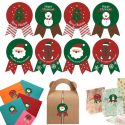 Christmas Sealing Stickers 10 Sheets (80 Pcs)
