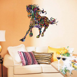 Galloping Floral Horse Wall Stickers