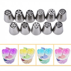 11 Pieces Stainless Steel Decorating Tool Set