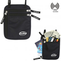 RFID Block Neck Pouch Passport Bag