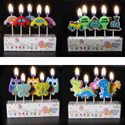 Birthday Party Cartoon Candle