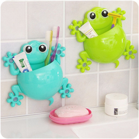 Cute animal frog bathroom accessories lazaara for Cute bath accessories