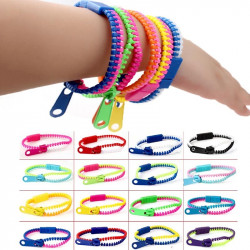 Two Colors Zipper Bracelets 5 Piece in a Set